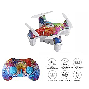 Cellstar CX-10D Mini Drone for Kids, 4CH 2.4GHz 6-Axis Gyro Rechargeable RC Quadcopter with Altitude Hold and 3D Flips (Multicolor) by Cellstar Co.,Ltd