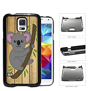 Koala Bear Hanging From Tree Branch Hard Plastic Snap On Cell Phone Case Samsung Galaxy S5 SM-G900
