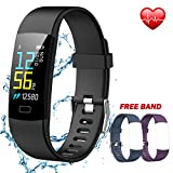 IYOUND Fitness Tracker, Activity Tracker Watch Color Screen with Heart Rate Monitor, Connected