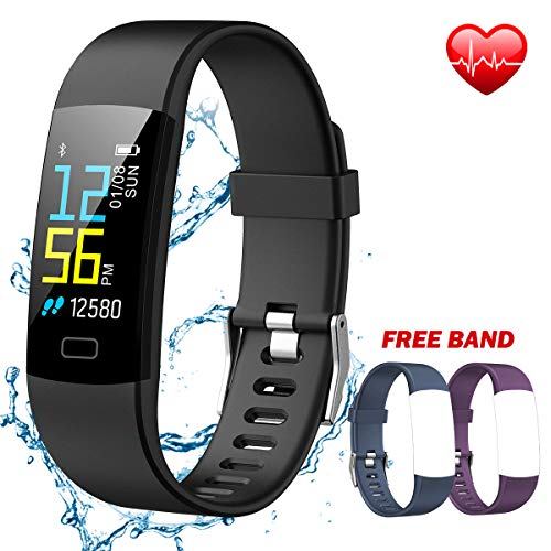 IYOUND Fitness Tracker Activity Smart Watch Color Screen with Heart Rate and Sleep Monitor, IP67 Waterproof GPS Route Tracking Step Calories Counter Pedometer Sports Bracelet for Men Women Kids