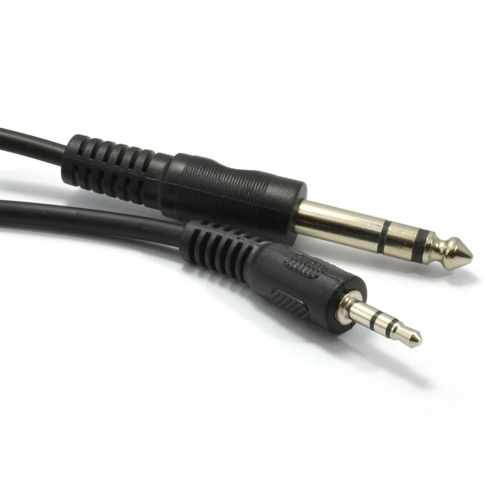 Amazon.com: Kenable 3.5mm Stereo Jack Plug to 6.35mm 1/4 inch TRS Balanced Plug  Cable 3m (~10 feet): Home Audio & Theater