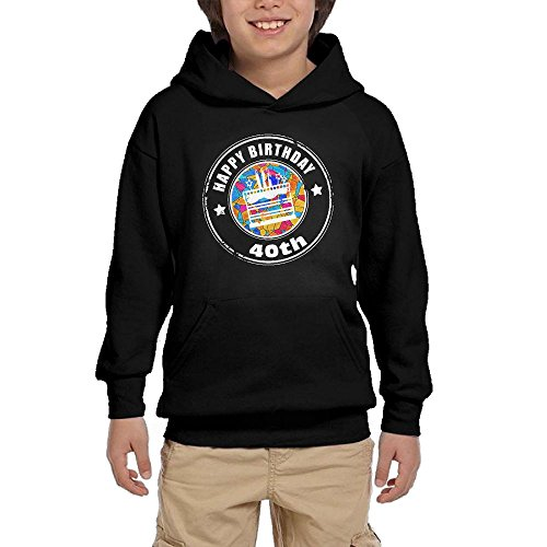 New 40th Birthday Gift Youth Unisex Hoodies Print Pullover Sweatshirts for sale