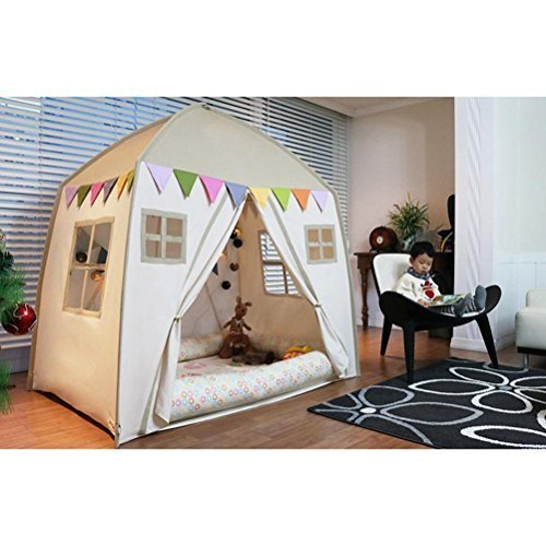 love tree Kids Indoor Princess Castle Play Tents,Outdoor Large Playhouse Secret Garden Play Tent – Portable for Indoor and Outdoor Fun Plays Beige One