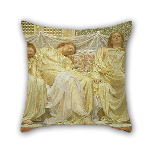 Oil Painting Albert Joseph Moore - Dreamers Pillow Cases 16 X 16 Inches / 40 By 40 Cm For Deck Chair,sofa,bar,car Seat,deck Chair,office With Double Sides