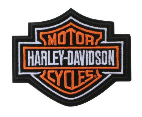 Harley-Davidson Orange Bar & Shield Patch SM 4'' x 3 1/2'' EMB302382 (Davidson Patch One Harley)