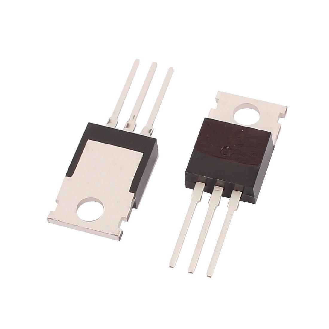 Terminali eDealMax Silicone Componente elettronica Pin Potenza ad effetto di Campo Transistor NPN BU406 50pcs
