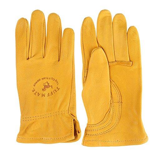 Tuff Mate Gloves Mens Tuff Mate Kids 1301 Cutting Horse Glove X-Small Beige (Mens Glove Tuff)