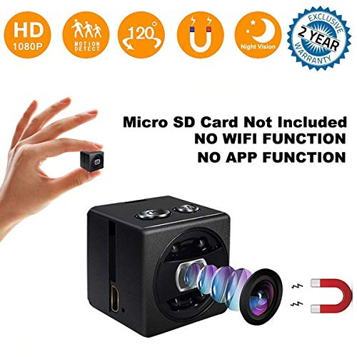 Mini Hidden Spy Camera - Full HD 1080P Portable Mini Security Camera Nanny Cam - Small Magnetic Camera - Surveillance Camera Night Vision/Motion Detection Home Car - Mini Disc Stash