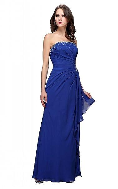 festamo® larga noche de lentejuelas ropa portador sueltas Fiesta Vestidos Ropa de Noche azul 36