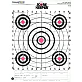 Champion Traps & Targets Scorekeeper Fluorescent Orange Bull's Eye Targets, 100 Yard Rifle Sight-in, 12 Pack