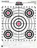 Champion Score Keeper Fluorescent Orange Bull 100-yard Sight-In Rifle Target (Pack of 12), Outdoor Stuffs