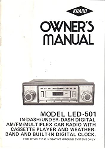 Kraco radio nemetasfgegabeltfo kraco led 501 in under dash digital am fm multiplex car radio cassette clock cheapraybanclubmaster Image collections
