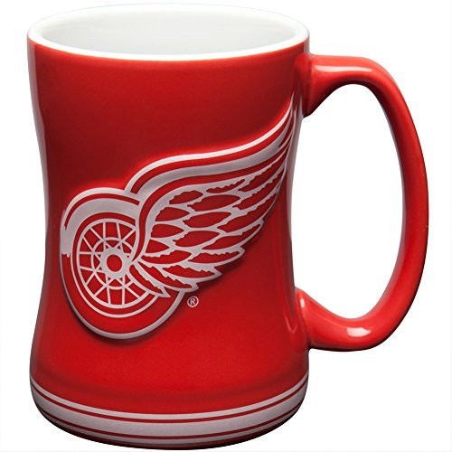 Detroit Wings 15oz Ceramic Relief