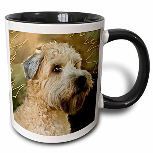 (3dRose 4808_4 Soft Coated Wheaten Terrier Portrait Mug, 11 oz, Multicolor)