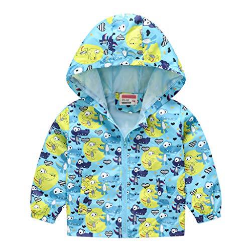 ROUNYY Manteau Bébés Filles Garçons Automne Hiver Vestes Rembourrées à Capuche à Glissière Coupe-Vent Vêtements d'extérieur Manches Longues Hauts pour Enfants