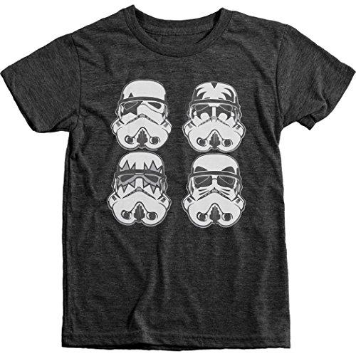 Kiss Vintage T-shirt (Trunk Candy Boys Kiss Storm Troopers Tri-Blend T-Shirt (Vintage Black, L(10/12)))