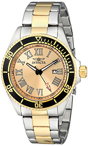 Invicta Men's 15000 Pro Diver Analog Display Japanese Quartz Two Tone Watch