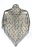 U.mslady Women's 1920s Shawl Wraps Sequin Beaded Evening Cape Bridal Shawl Bolero Peacock Golden Flapper Cover Up