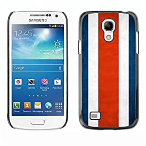 Shell-Star ( National Flag Series-Costa Rica ) Snap On Hard Protective Case For Samsung Galaxy S4 MINI / i9190 / i9192