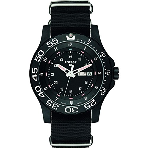 traser H3 P 6600 Elite Red Sapphire Watch | Nato Strap - Black