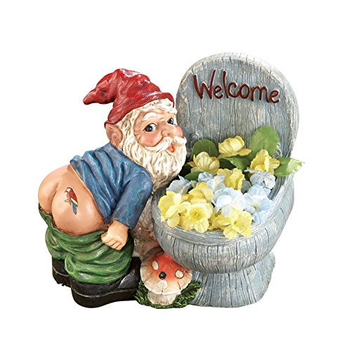 Motion Sensored Farting Gnome Planter