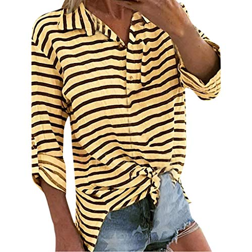 (Women's Sexy Deep V Neck Short Sleeve Back Cross Tied Up Tee Backless Lace Crop Top Women's Tops Long Sleeve Lace Yellow)