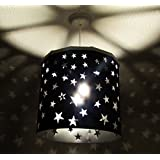 Black Stars Lampshade Ereki + EREKI Magnetic Set (More Colours Available) Ideal to project and cast stars on the wall and discover our unique magnetic system