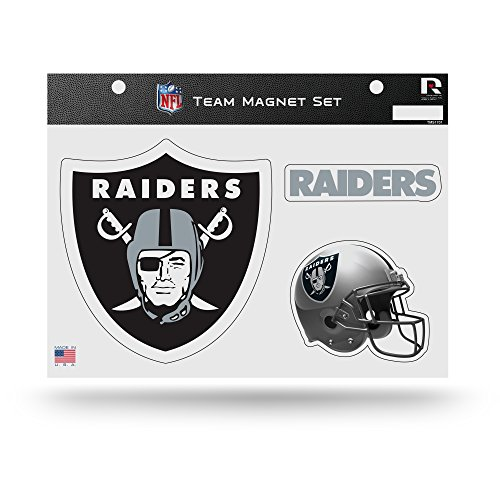 Rico Industries NFL Oakland Raiders Die Cut Team Magnet Set Sheet