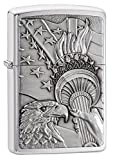 Zippo Patriotic Pocket Lighter, Brushed Chrome