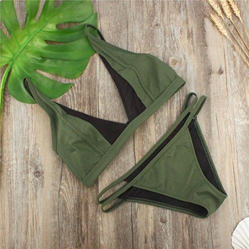 Tulle Triangolo Verde Push Bikini Sexy Reggiseno Sgambato Imbottito Mare Jimmackey Thong Set Up Donna gO5TxqFf