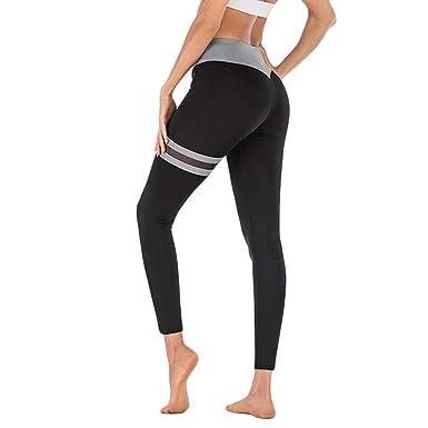 Leggings Deporte Mujer Azul Pantalon Para Yoga Pantalones Yoga ...