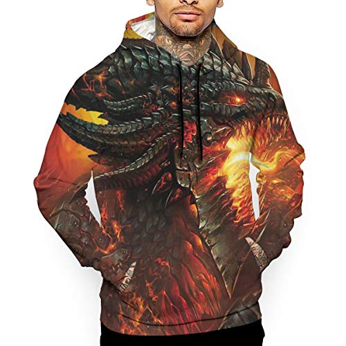 - Go KJ Unisex Fire Dragon Hoodies Personalized Pullover Hood Jackets Sweatshirt
