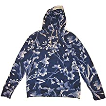 RALPH LAUREN Polo Mens Floral Spa Terry Pullover Hoodie Blue