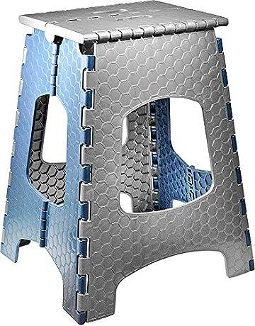 Stark Taburete Plegable Multiusos/Escalón con Mango, hasta 120 kg, Altura 44 cm