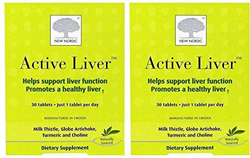 (New Nordic Inc Active Liver Supplement (Pack Of 2) With Milk Thistle, Turmeric and Black Pepper, 30 Tablets Each)