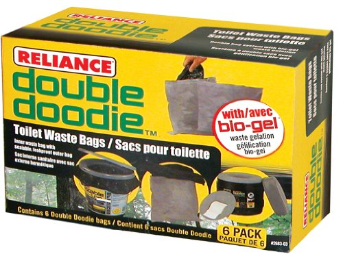 - Reliance Products 2683-03 Double Doodie Toilet Waste Bags (6-Pack)