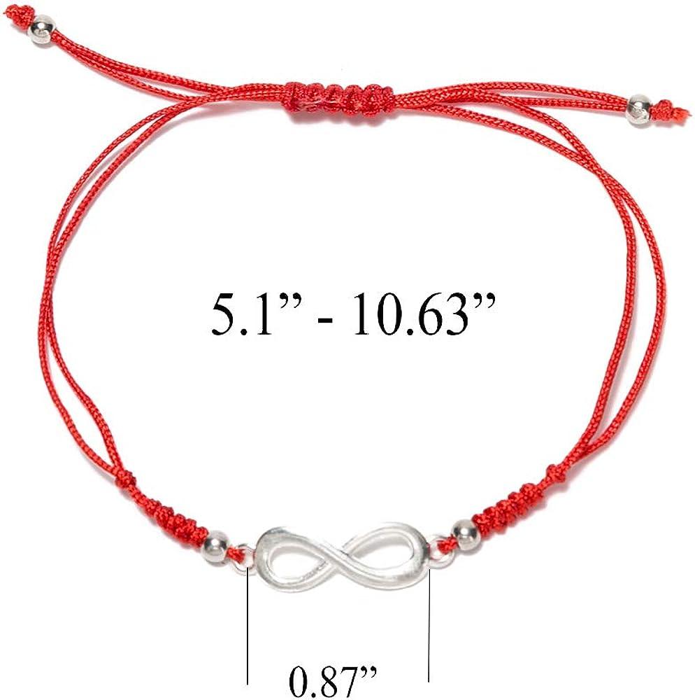 Handmade Evil Eye Kabbalah Bracelet Red Cord String /& Lucky Blue Eye Amulet