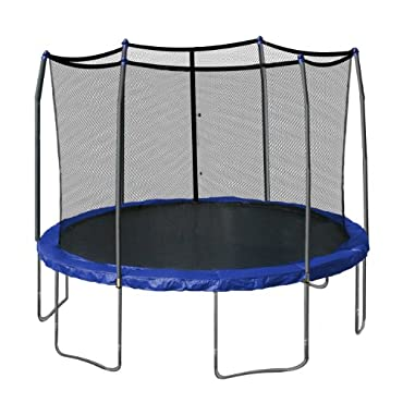 Skywalker 12' Round Trampoline and Enclosure with Spring Pad, Blue