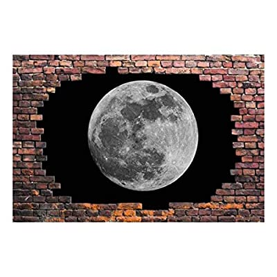 Large Wall Mural Super Moon Viewed Through a...