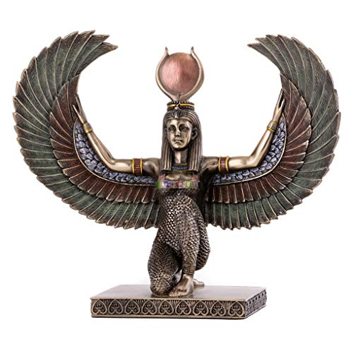Top Collection Egyptian Winged Isis Statue - Egypt Goddess of Magic, Medicine, and Fertility Sculpture in Premium Cold Cast Bronze- 7.75-Inch Mother of Horus and Wife of Osiris Figurine
