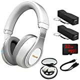 Klipsch Reference Over-Ear Bluetooth Headphones White (1063394) 2x Voltix 2600mAh Portable Power Black, 32GB MicroSD Memory Card & 6-inch 3.5mm Splitter Stereo Plug/Two 3.5mm Stereo Jack Cable
