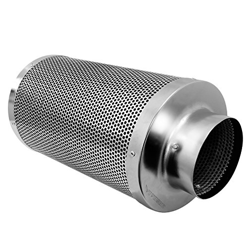 51ngXvFuUCL - VIVOSUN 6 Inch Air Carbon Filter Odor Control with Australia Virgin Charcoal for Inline Fan, Pre-filter Included, Reversible Flange