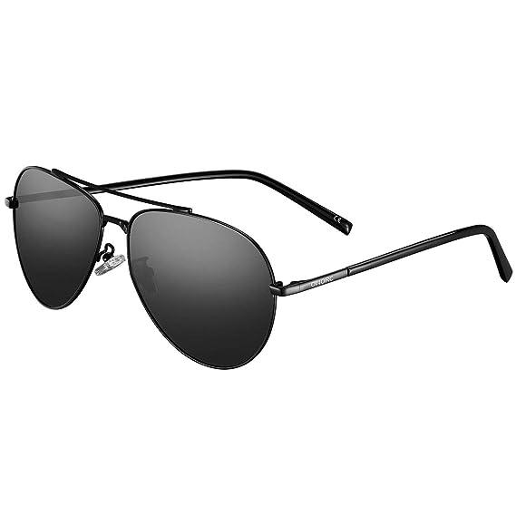 b0e1dc1f71 OMORC Aviator sunglasses Gafas de sol polarizadas con estilo, protección  UV400 para los ojos, ...