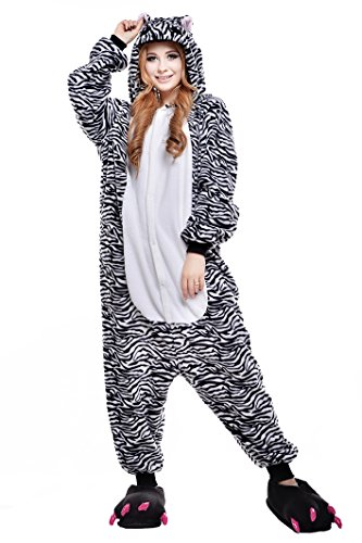 Newcosplay Unisex Cartoon Clothing Zebra Animals Cosplay Costumes (M)]()