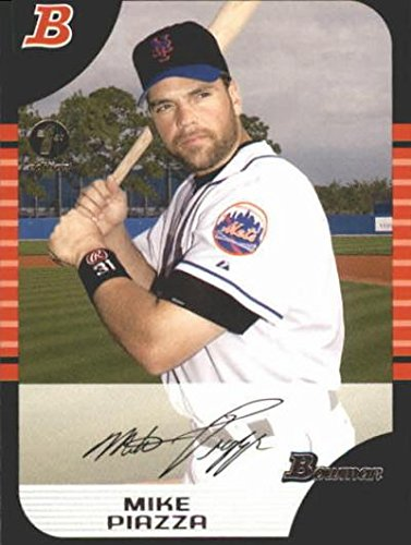 Mike Piazza Autograph (Mike Piazza baseball card (New York Mets) 2005 Bowman #45)