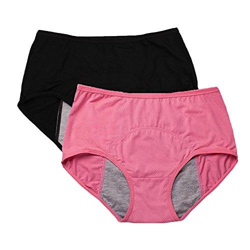 YOYI FASHION Women Mesh Holes Breathable Leakproof Period Panties US Size M/6 Watermelon -