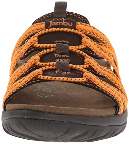 Jambu Womens Mars Sandal Brown/Orange VyZhyr