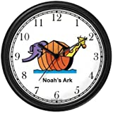 Noah's Ark No.2 - Biblical Theme Wall Clock by WatchBuddy Timepieces (White Frame)