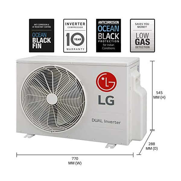 LG 1.5 Ton 5 Star Inverter Split AC (Copper, LS-Q18YNZA, Convertible 4-in-1 Cooling, 2020 Model, White)