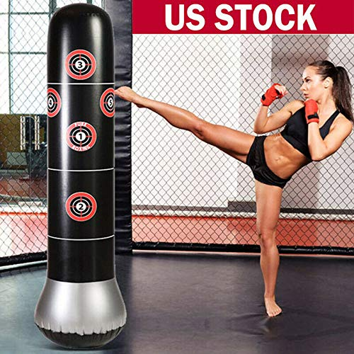 AN&GLOBALS Inflatable Boxing Punching Bag Tumbler Sandbag Fitness Training Adult Kids Gift 150cm by AN&GLOBALS